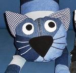 Джинсовый кот
