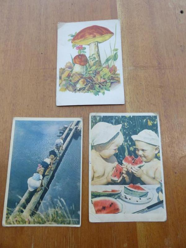 Куплю советские открытки цена, козы мультяшные цветы