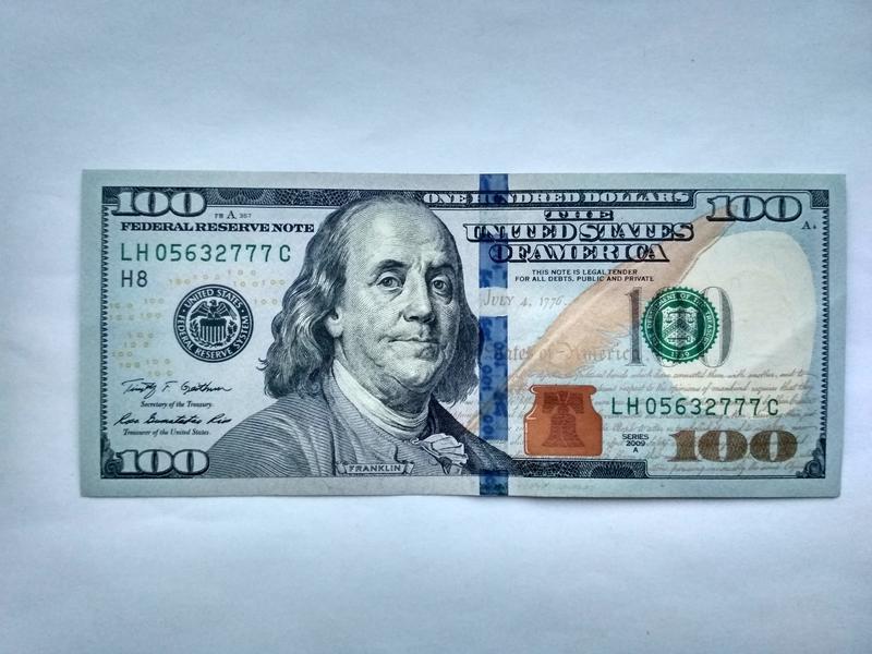 новые долларовые купюры фото зависимости