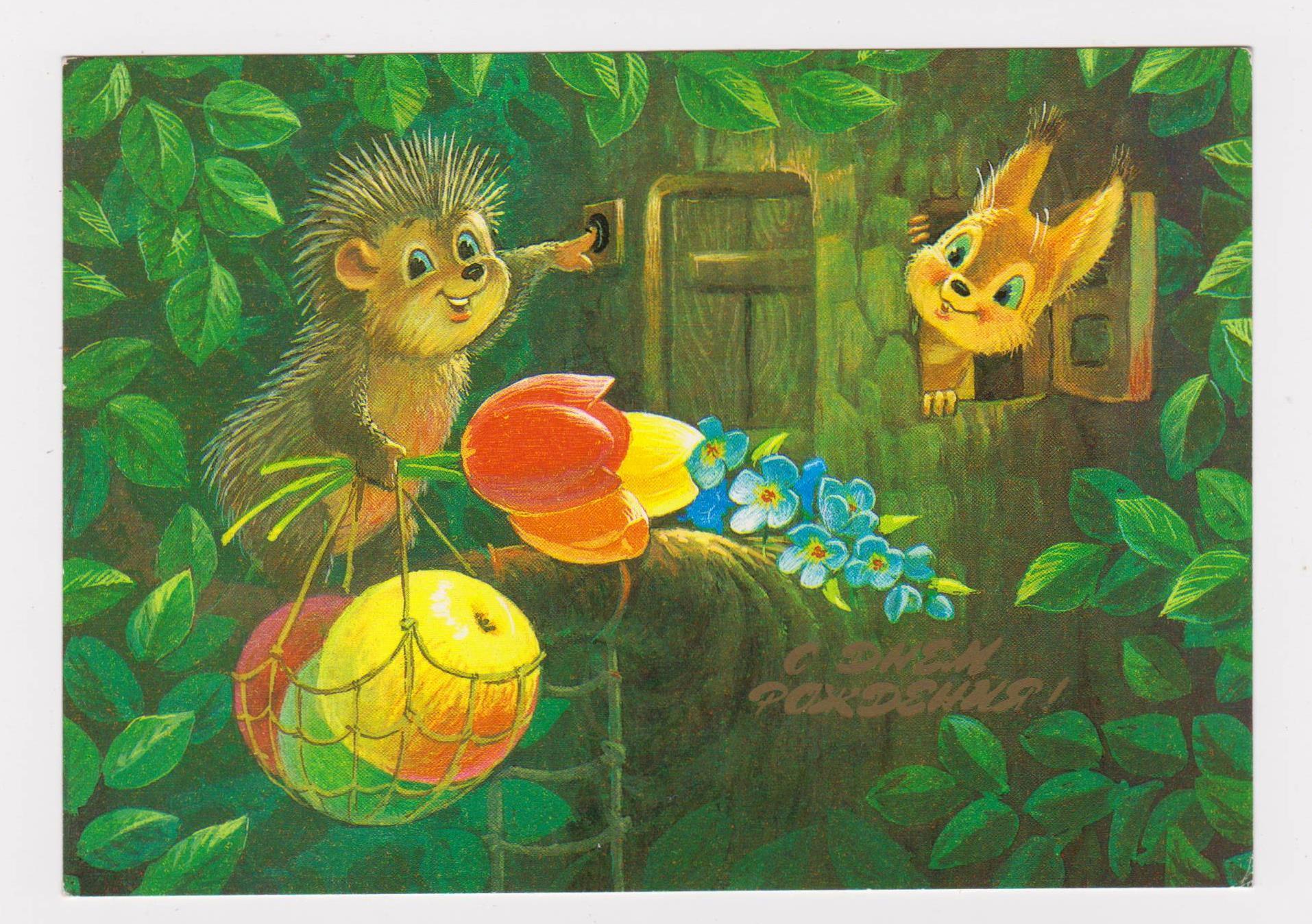 Ёжик красивые открытки с
