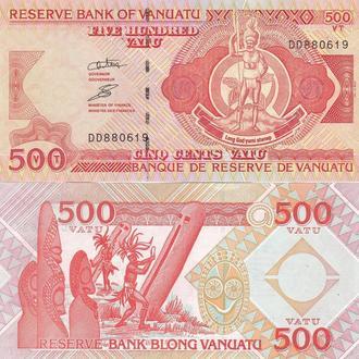 Vanuatu Вануату  500 Vatu  last issue DD UNC JavirNV