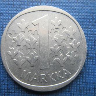 Монета 1 марка Финляндия 1974