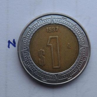 МЕКСИКА 1 песо 1997 г.