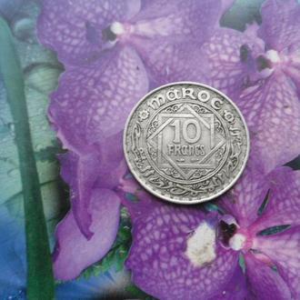 Фр/Морокко 10франков 1366г