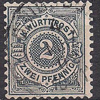 Немецкие земли, Wurttemberg, 1894 г., первые марки, марка № 60