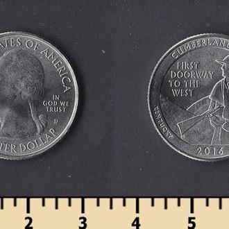 США 25 центов 2016