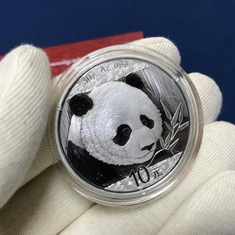 Монета китайська Панда інвестиційна срібло