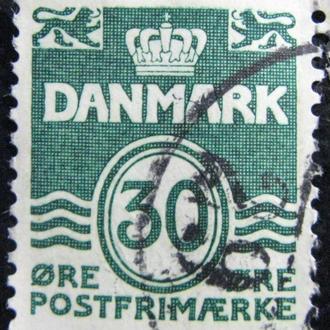 Марка Дания 30,  1967 Wavy Lines - New Value