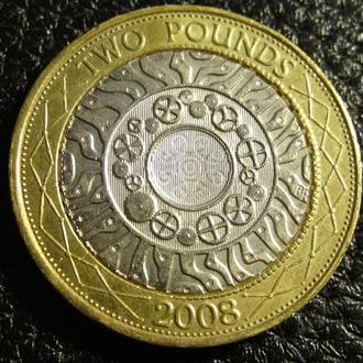 2 фунта 2008 Британія