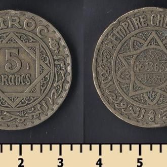 Марокко 5 франков 1946