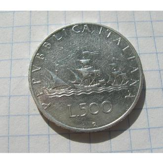 ПАРУСНИК = 500 ЛІР 1964 = ІТАЛІЯ =