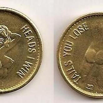 Сувенирная монета Девушка
