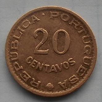 Мозамбик 20 сентаво 1961 год.