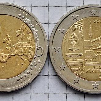 Германия 2 евро, 2013, Баден-Вюртемберг