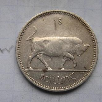 ИРЛАНДИЯ, 1 шиллинг 1964 года (БЫК).