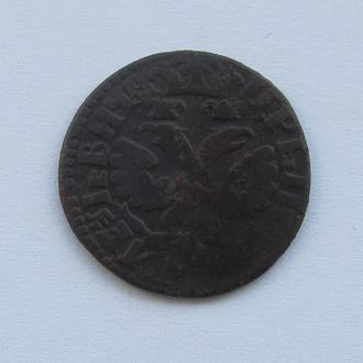 деньга 1704г Петр 1
