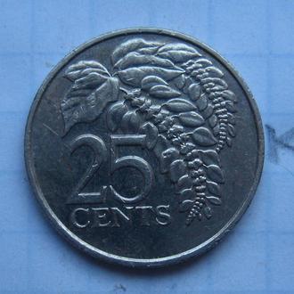 ТРИНИДАД и ТОБАГО, 25 центов 1983 года.