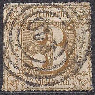 Немецкие земли, Thurn und Taxis, 1866 г., первые марки, марка № 50
