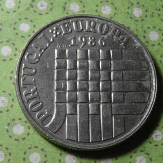 Португалия 1986 год монета 25 эскудо !