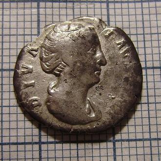 Денарий, Фаустина старшая, серебро