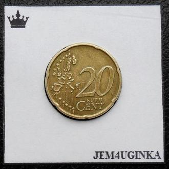 Нидерланды. 20 евроцентов 2002  Состояние!