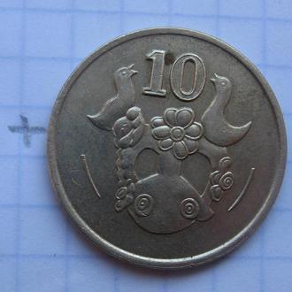 КИПР, 10 центов 1991 года.