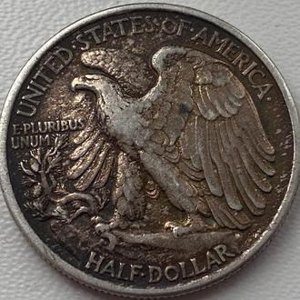 США 1/2 доллара 1943 год СЕРЕБРО!!!!! СОСТОЯНИЕ!!!!!!!!!