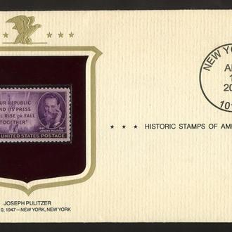 """США , 2007год. , конверт из серии """"Исторические марки Америки""""."""