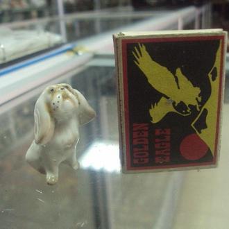 фигура фарфор лфз собака пекинес собачка миниатюра под реставрацию №34
