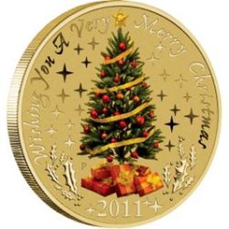 АВСТРАЛИЯ. The Perth Mint. 2011. 1$. Christmas...