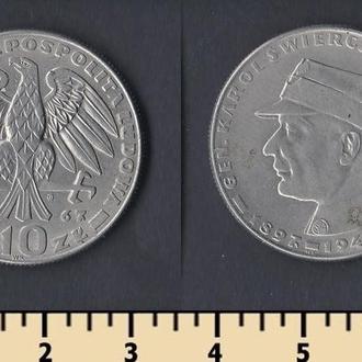 ПОЛЬША 10 ЗЛОТЫХ 1967