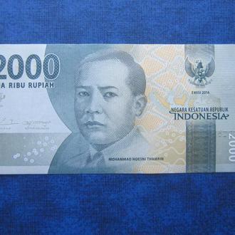 банкнота 2000 рупий Индонезия 2016 UNC пресс