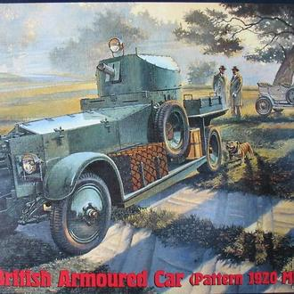 Сборная модель Pattern 1920 Mk.I  British Armoured Car 1:35 Roden 801