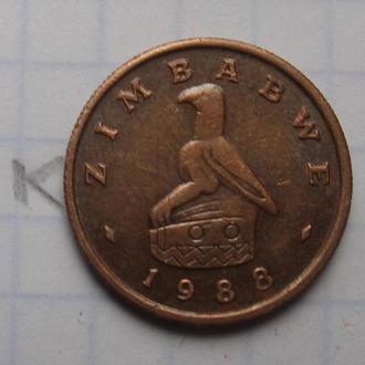ЗИМБАБВЕ, 1 цент 1988 г.