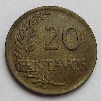 Перу 20 сентаво 1964 (KM#221.2b)