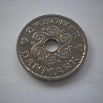 Стара Європа. Данія. 1992 рік. 2 крони. Відмінний стан. Нечаста !!!