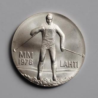 Финляндия 25 марок 1978 г., UNC, 'Зимние игры в Лахти'