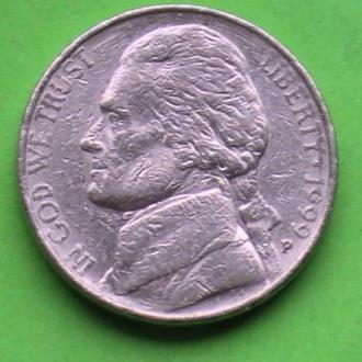 5 Центов 1999 г США 5 Центів 1999 р США