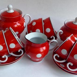 Сервиз чайный Вечерний чай. Фарфор.  15 предметов.