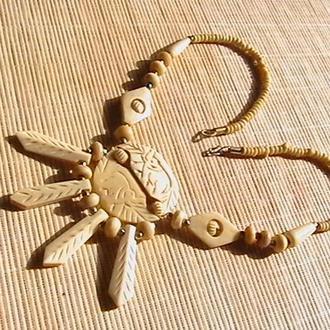 Ожерелье ''Слоны''. Индия. Кость. Длина 53 см.