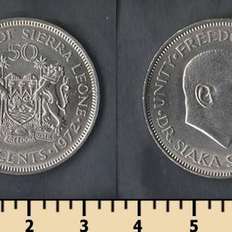 Сьерра-Леоне 50 центов 1972