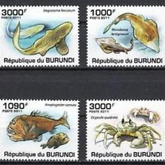 Бурунди 2011 Доисторическая морская фауна