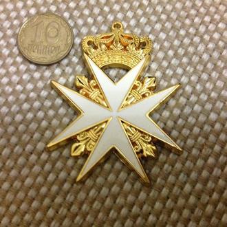 Знак ордена Святого Иоанна Иерусалимского. Царский. Копия.