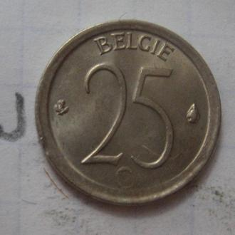 БЕЛЬГИЯ, 25 сантимов 1968 г.
