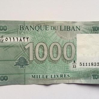 Ливaн , 1000 фунтов (mille livres)