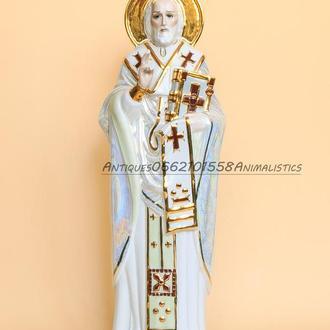Огромная Фарфоровая статуэтка Святой Николай Коростень 38см фарфор