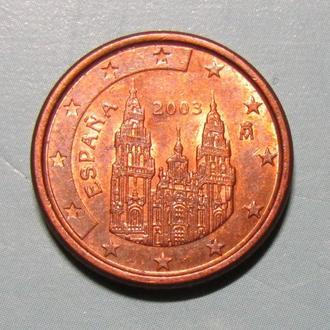 1 евро цент. Испания.2003 г.