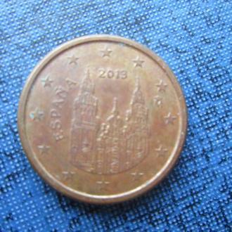 монета 1 евроцент Испания 2013