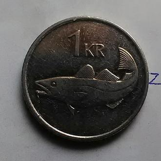 ИСЛАНДИЯ, 1 крона 1996 года (треска).
