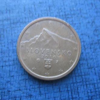 монета 2 евроцента Словакия 2016